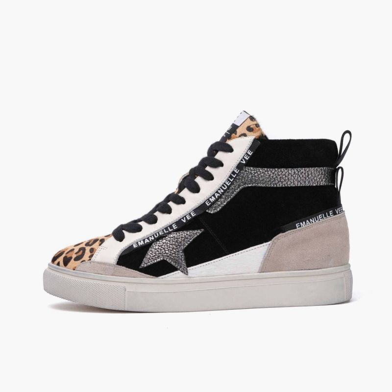Sneaker mid with laces lateral star horse combi Multi animalier